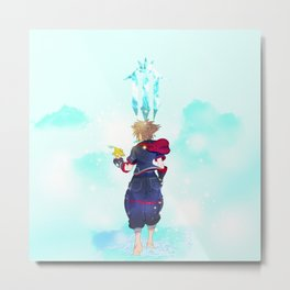 Kingdom Hearts - The Final World Metal Print