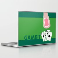 poker Laptop & iPad Skins featuring Poker Face by Remix Comix
