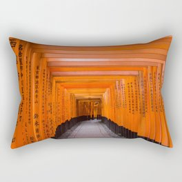 Japan Travel Photo - Fushimi Inari Shrine Rectangular Pillow