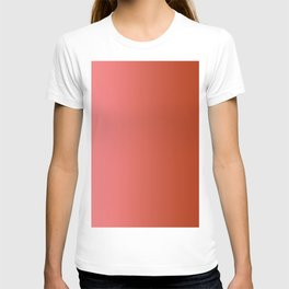 Pastel Red to Red Vertical Linear Gradient T-shirt