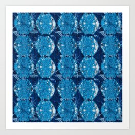 Cyanotype Diamonds Art Print