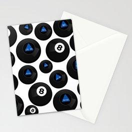 Retro Magic 8 Ball Stationery Cards