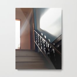 Sun Down the Stairs Metal Print