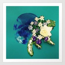Garden Circle - Jade Art Print