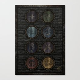 Medieval Shields Canvas Print
