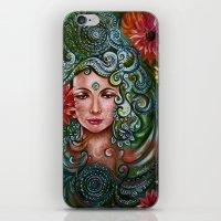 chakra iPhone & iPod Skins featuring Chakra Sadhna by Harsh Malik