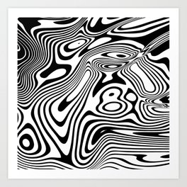 Black and White Marble Pattern Art Print
