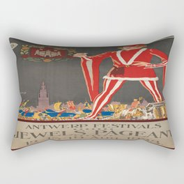 Vintage poster - Antwerp Rectangular Pillow