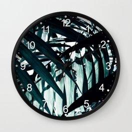 Inside of Palm Trees Wall Clock