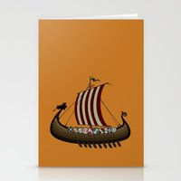 vikings Stationery Cards featuring Vikings by mangulica