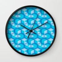 escher Wall Clocks featuring Escher #009 by rob art | simple