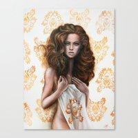 siren Canvas Prints featuring siren by Steven Bossler
