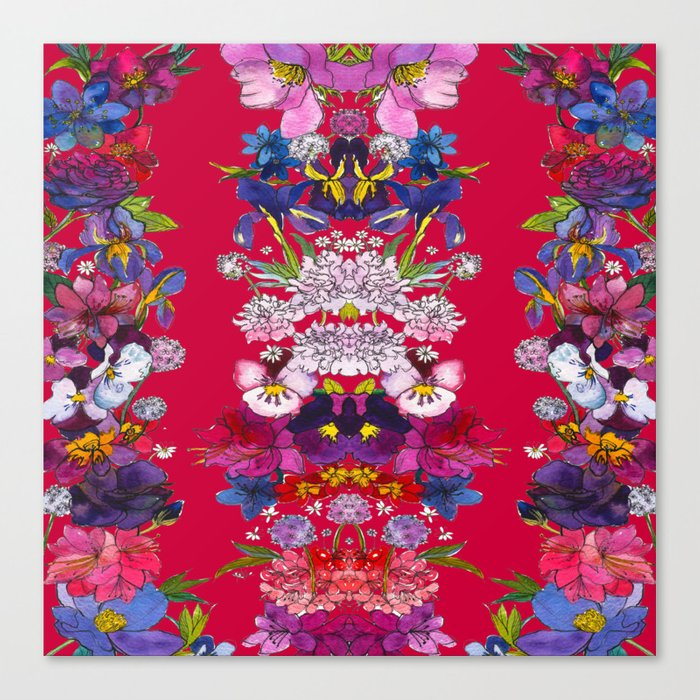 Full Bloom Red Canvas Print