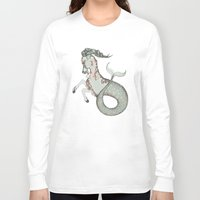capricorn Long Sleeve T-shirts featuring Capricorn by Vibeke Koehler
