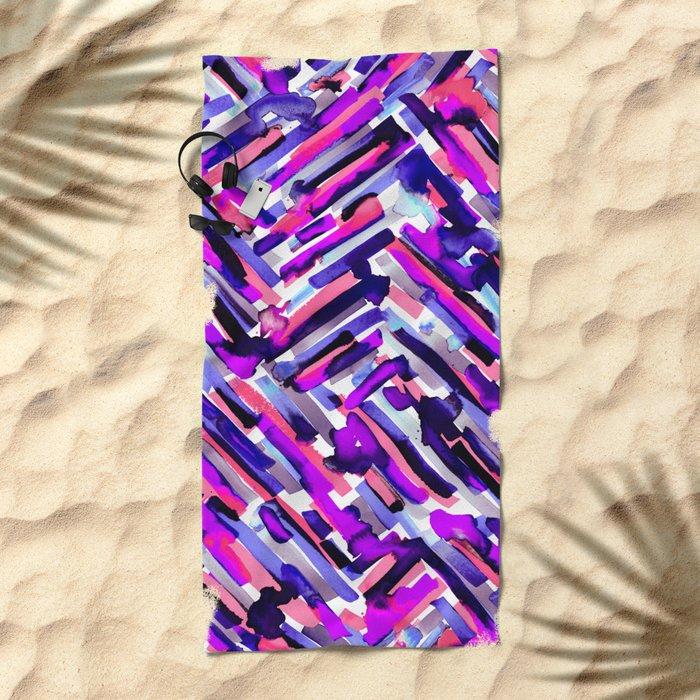IDGAF (Black) Beach Towel