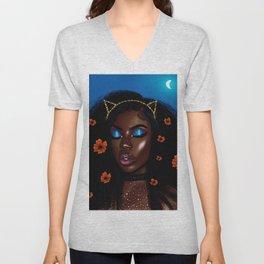 Pretty Brown Lady Unisex V-Neck
