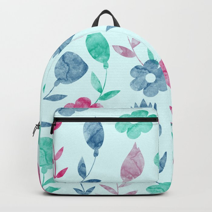 Watercolor Floral Pattern Backpack