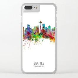 Seattle Washington Skyline Clear iPhone Case