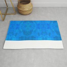 Aztec in blue Rug
