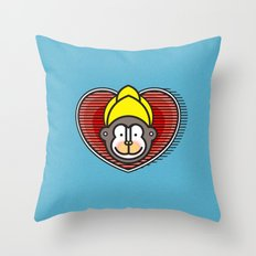 Indian Monkey God Icon Throw Pillow