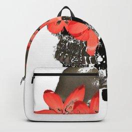 Skull with Flower Eyes Light Backpack