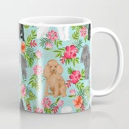 Toy Poodle dog breed pet portraits hawaiian floral flowers dog pattern custom dog lover art Coffee Mug