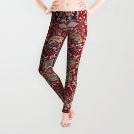 Fine Persia Bijar Old Century Authentic Colorful Red Blue Yellow Vintage Patterns Leggings