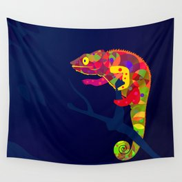 Paper Craft Chameleon Wall Tapestry