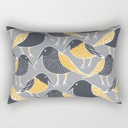Black Bird Rectangular Pillow