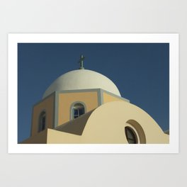 Santorini chapel Art Print