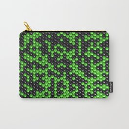 Pattern of black and green spheres Carry-All Pouch