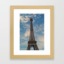 Eiffel Tower, Paris (Portrait) Framed Art Print