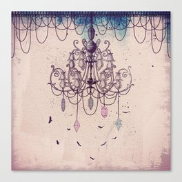 The Chandelier Canvas Print
