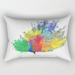 Peacock Colorful Rectangular Pillow