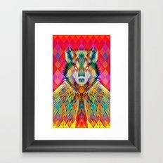 Corporate Wolf Framed Art Print