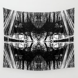 155 - Black and White abstract design Wall Tapestry
