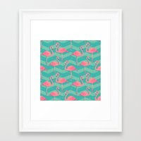 flamingo Framed Art Prints featuring Flamingo by Julia