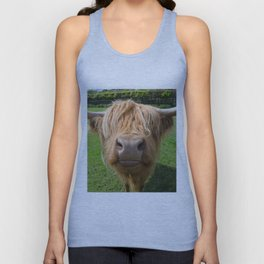 Highland cow nose Unisex Tank Top
