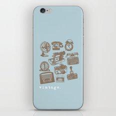 blue vintage  iPhone & iPod Skin