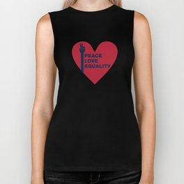 Peace Love Equality - heart Biker Tank