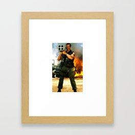 Arnold Rocket Launcher Iphone case schwarzenegger Framed Art Print