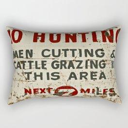No Hunting! Rectangular Pillow