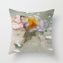 miss clapham's wild crocus Throw Pillow