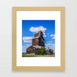 Lothair, Montana Elevator Framed Art Print