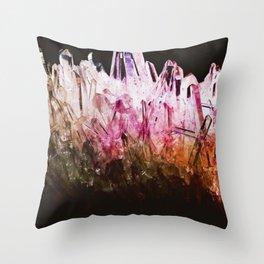 Rainbow quartz Throw Pillow