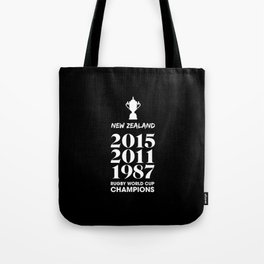New Zealand Treble Rugby World Cup Champions Tote Bag