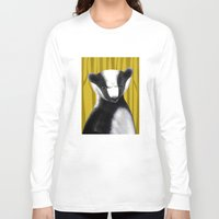 badger Long Sleeve T-shirts featuring Badger by makoshark