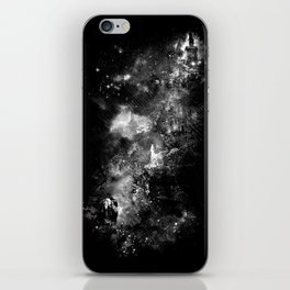 I'll wait for you black white version iPhone Skin