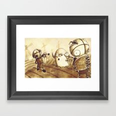 Duel Framed Art Print