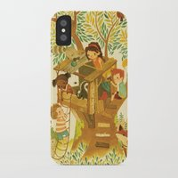beastie boys iPhone & iPod Cases featuring Our House In the Woods by Teagan White